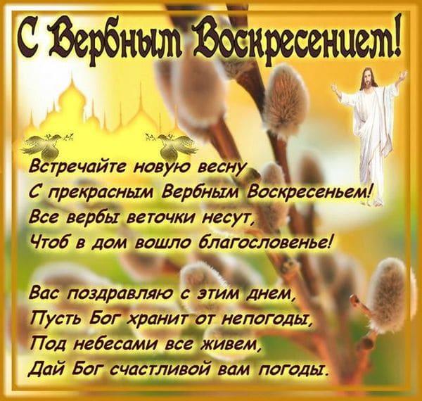 Душевное пожелание на Вербное Воскресенье