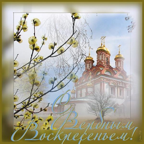 Красивая открытка на Вербное Воскресенье