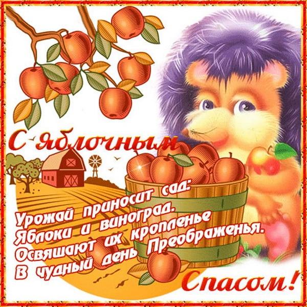Красивое пожелание с Яблочным Спасом