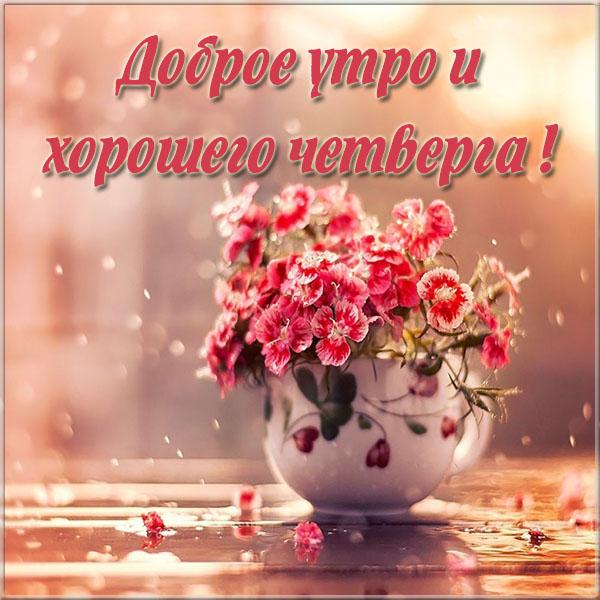Доброе утро и хорошего четверга