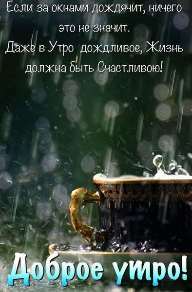 Даже в утро дождливое, жизнь должна быть счастливою