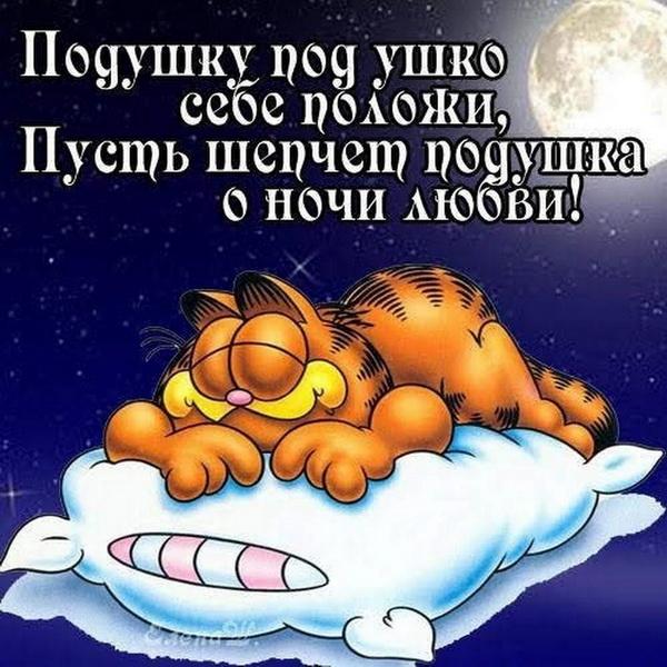 Смешная открытка мужчине с пожеланием спокойной ночи