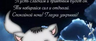 Пусть ночь подарит самый нежный сон