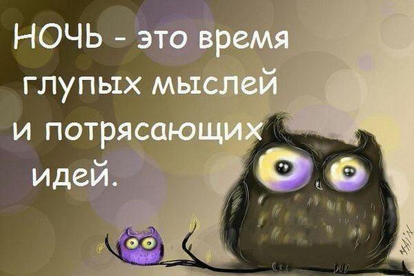 Ночь - это время глупых мыслей и потрясающих идей
