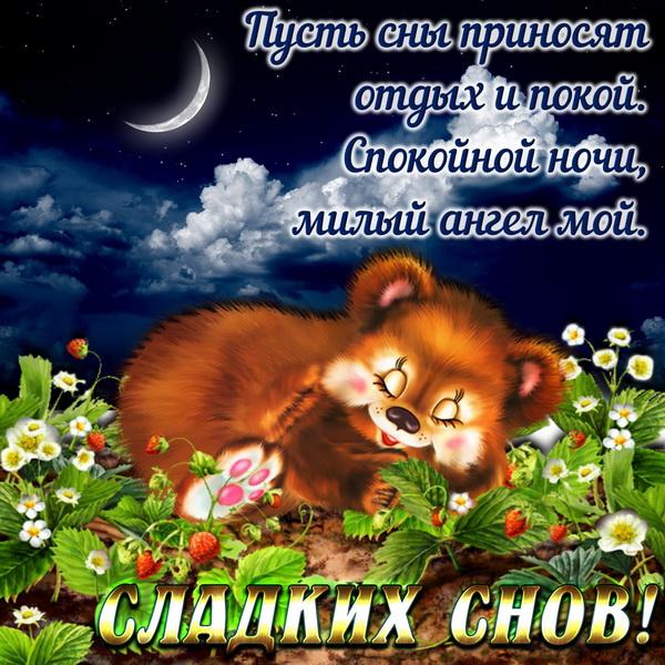 Короткий стих с пожеланием спокойной ночи
