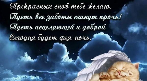 Пожелания спокойной ночи любимой в стихах