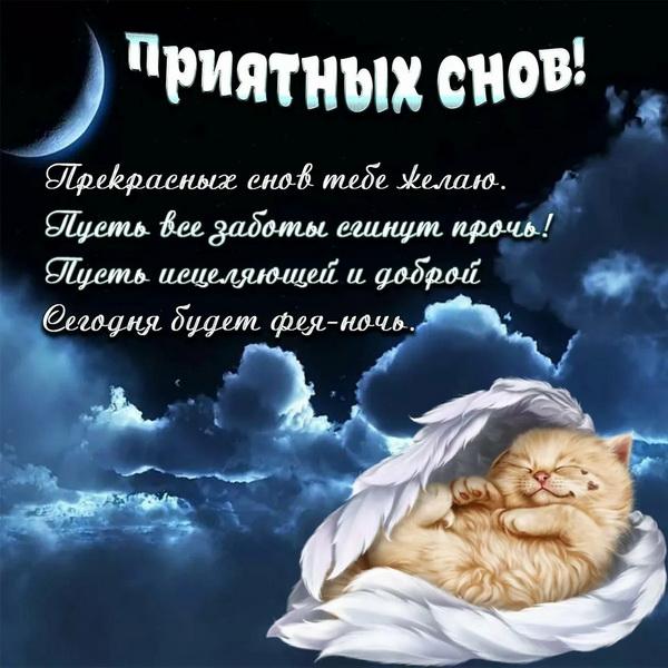 Картинки пожелания девушке спокойной ночи в прозе
