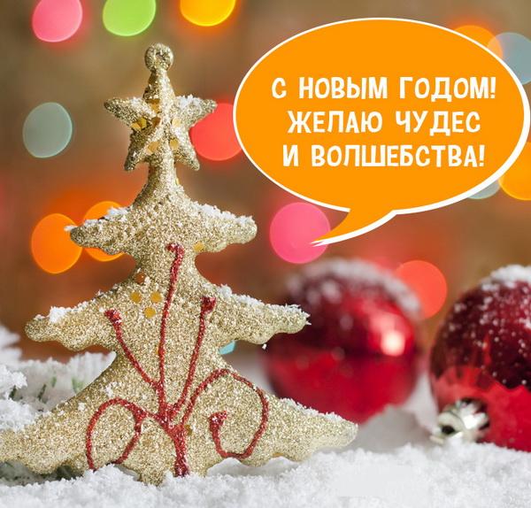Красивое СМС пожелание на Новый год девушке