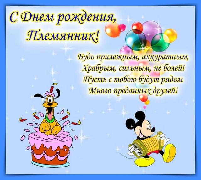 Пожелание на день рождения племяннику от тети