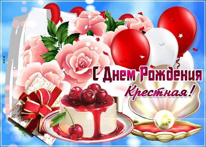 СМС поздравление с днем рождения крестной